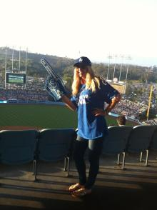 Dodger baseball game in LA